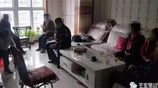 今年1月,寧夏銀川警方抓獲7名門徒會成員(網絡圖片)
