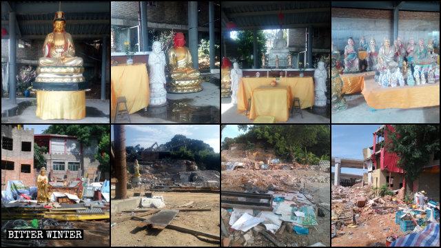 6月27日,福壽禪寺被夷為平地