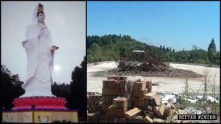 全國持續滅佛:露天、寺內大小型佛像陸續遭強拆、封蓋