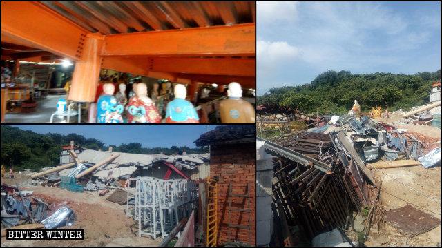 福壽禪寺新建寺廟被拆毀