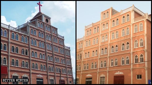 趙集教堂所在的頂樓被拆