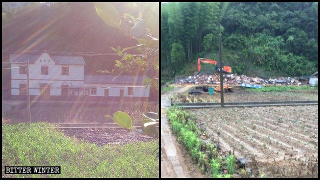 宇琅教堂被拆前後