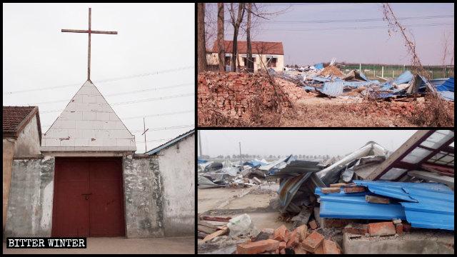 餘杭區一處200平方米的家庭聚會場所被強拆