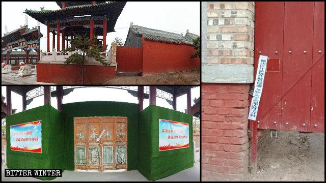 千佛寺大門和側門被封