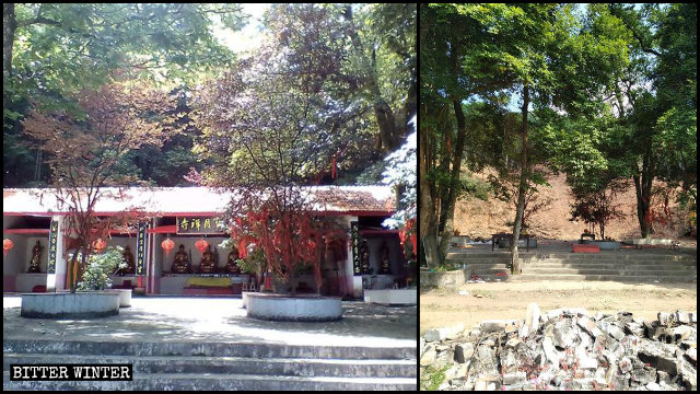 寶月禪寺被夷為平地