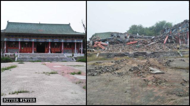 蓮花源寺被拆成廢墟