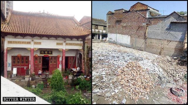 10月20日,烏龍寺被拆