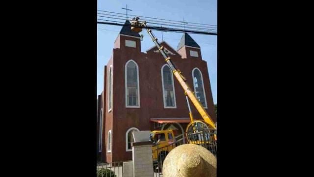 惠州市惠陽區一處天主教堂十字架被強拆(知情人提供)
