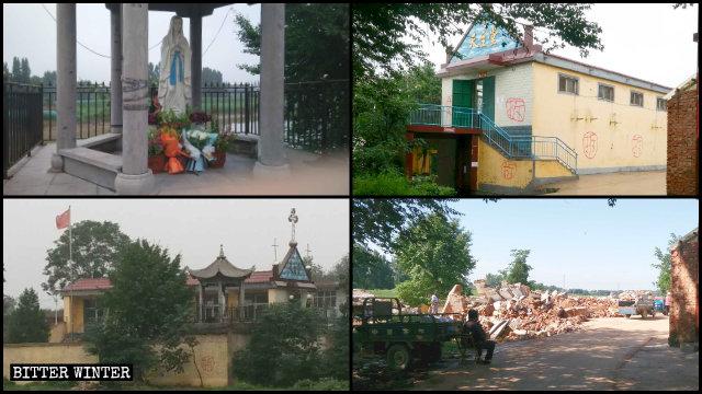 邯鄲市永年區一天主教堂被拆前後