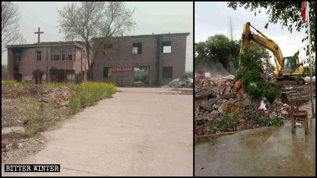 9月16日,馬鞍山一三自教堂遭強拆
