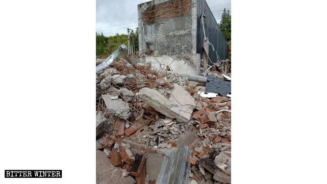 5月,河源市另一處家庭聚會點也被強拆